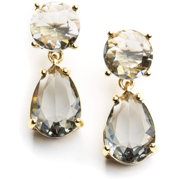 KATE SPADE NEW YORK Double Drop Earrings ($58) ❤ liked on Polyvore
