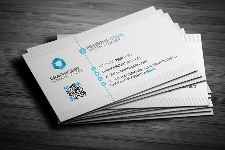 Ad Simple Business Card Design Vol 02 By Graphica59 On