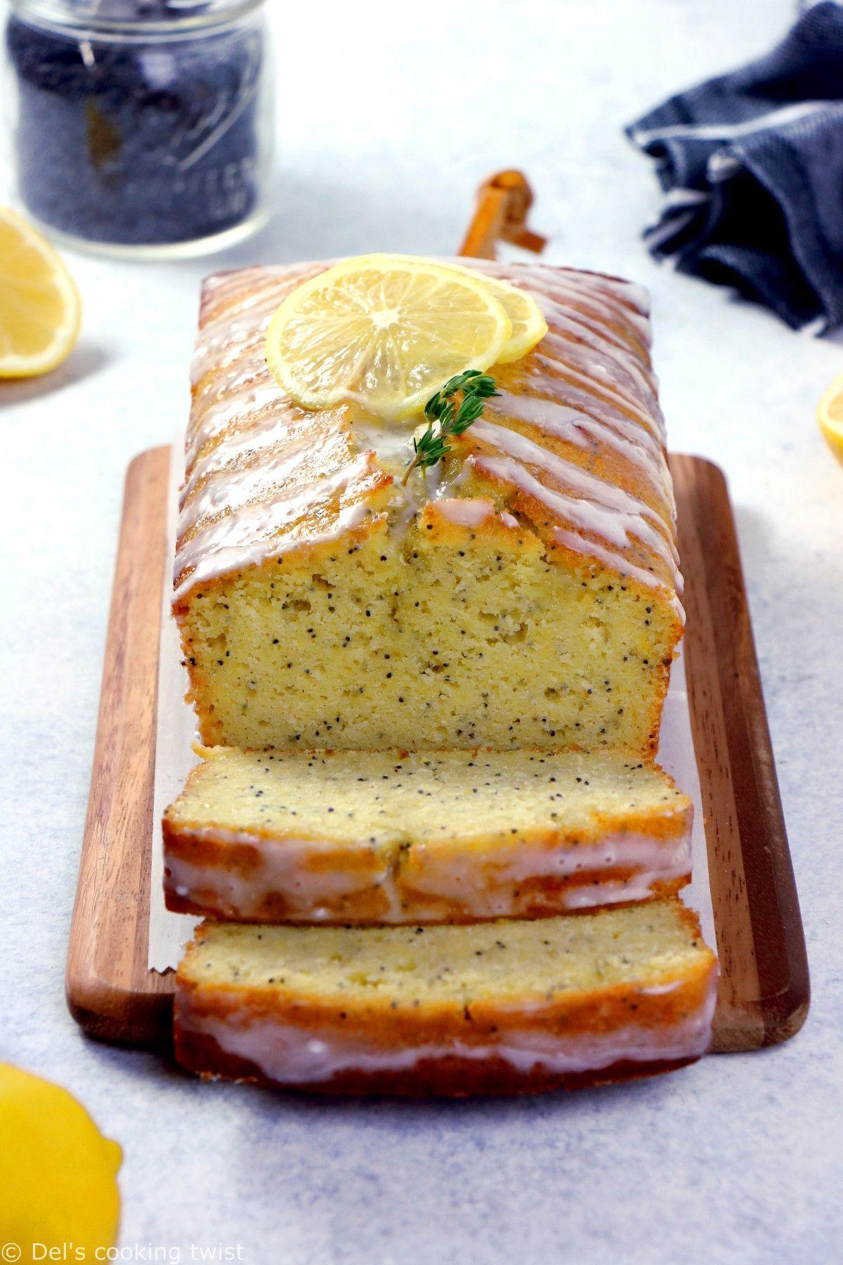 Lemon Poppy Seed Loaf Recipe Easy Baking Recipes Food Baking