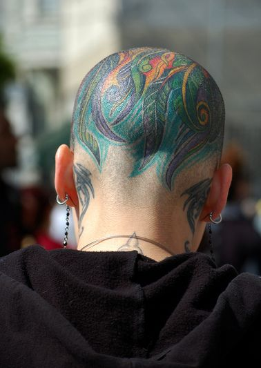 head tattoo women - Szukaj w Google