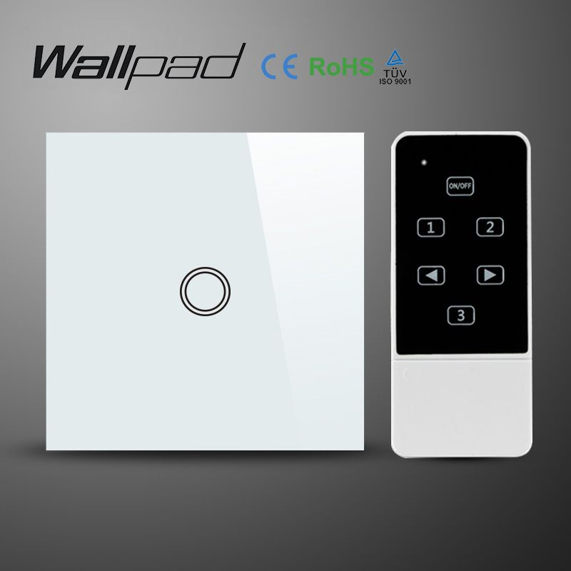 Eu 1 Gang Wallpad Wireless Remote Control Wall Touch Light Switch