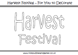 Harvest Festival Colouring Sheets | Messy harvest ideas ...