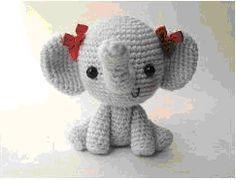 Elton the Elephant Free Crochet Pattern - Stuffed Hearts | 180x236