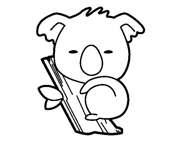 Dibujo de Koala bebé para colorear | Dibujos de Animales | Pinterest