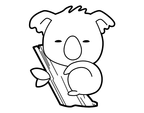 Dibujo De Koala Bebe Para Colorear Koala Coloring Pages Coloring Pages For Kids
