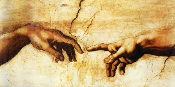 Cotton Canvas Prints famous oil painting (Creation of Adam) by Michelangelo giclee print on canvas for wall(China (Mainland))