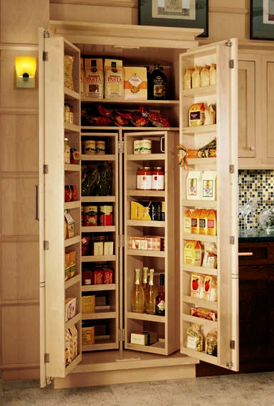 Pantry cabinets kitchen cabinets options for a kitchen for Kitchen pantry plans