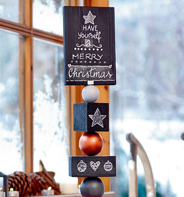 winter weihnachtliche holzstelen als h bsche. Black Bedroom Furniture Sets. Home Design Ideas