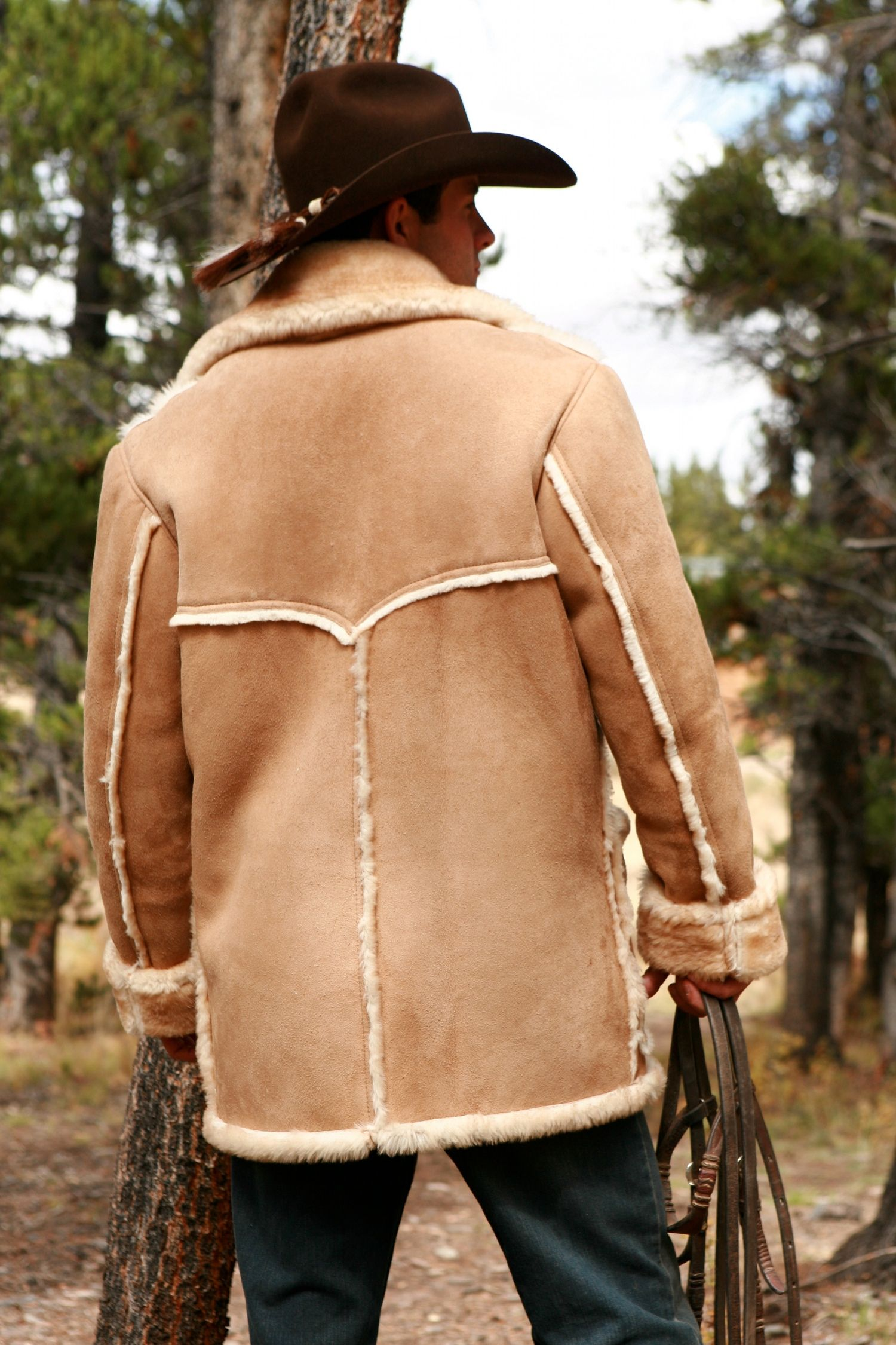 Handmade Mens Sheepskin Jackets | Mens Sheepskin Coats and Vests ...