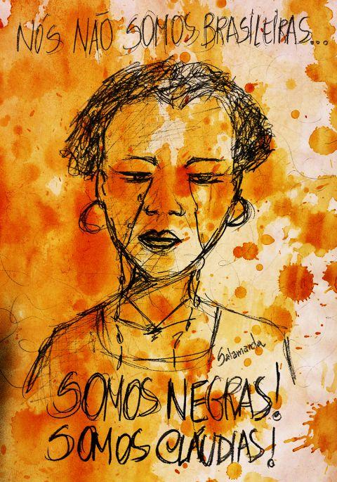 Imagen homenaje a Cláudia Silva Ferreira