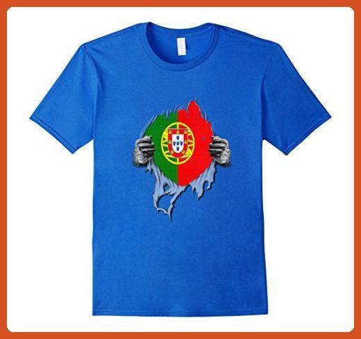 98493e6b Mens PORTUGAL Tshirt Super Portuguese Flag Funny Tshirt 3XL Royal Blue - Funny  shirts (*Partner-Link)