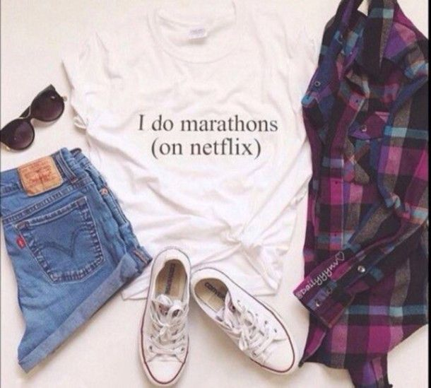 I do marathons on netflix T-shirt