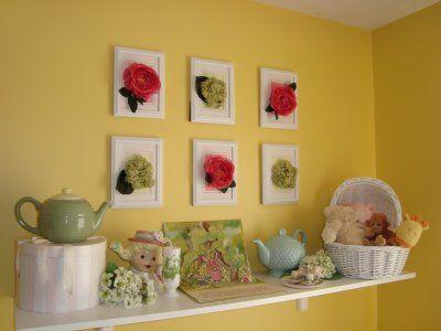 DIY: Silk Flower Wall Art   Silk flowers, Diy flower and Flower art