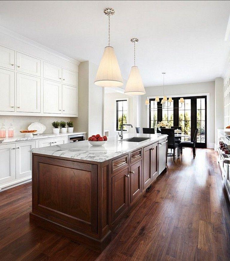 40+ Contemporary Walnut Kitchen Cabinets Design Ideas ...