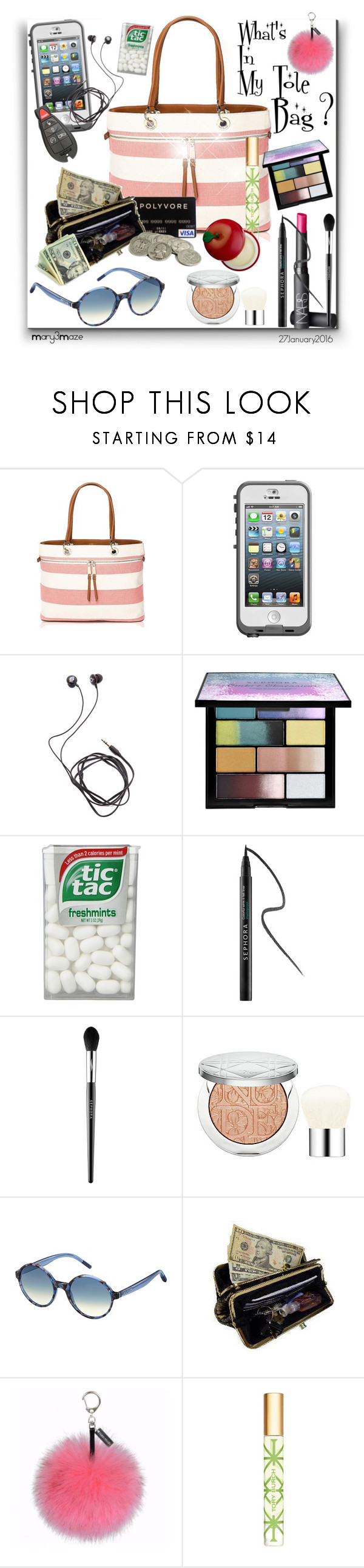 """""""Tote Bags"""" by octobermaze ❤ liked on Polyvore featuring мода, Tommy Hilfiger, LifeProof, Diane Von Furstenberg, Sephora Collection, NARS Cosmetics, Christian Dior, AmeriLeather, Helen Moore и Tory Burch"""