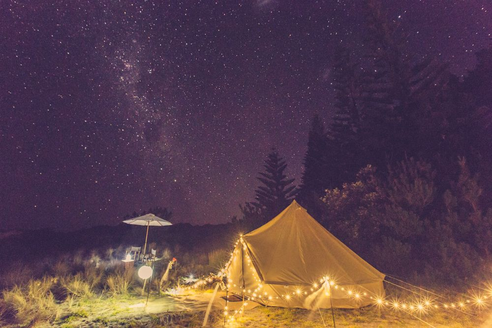 Glamping under the night sky Wildernest Okiwi Bridal