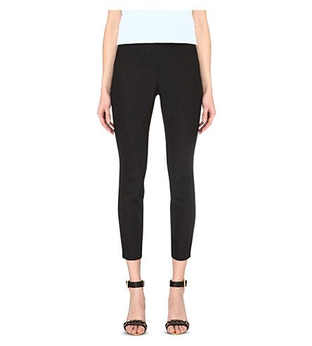 TED BAKER Caycit Slim-Fit High-Rise Stretch-Crepe Trousers. #tedbaker #cloth #trousers