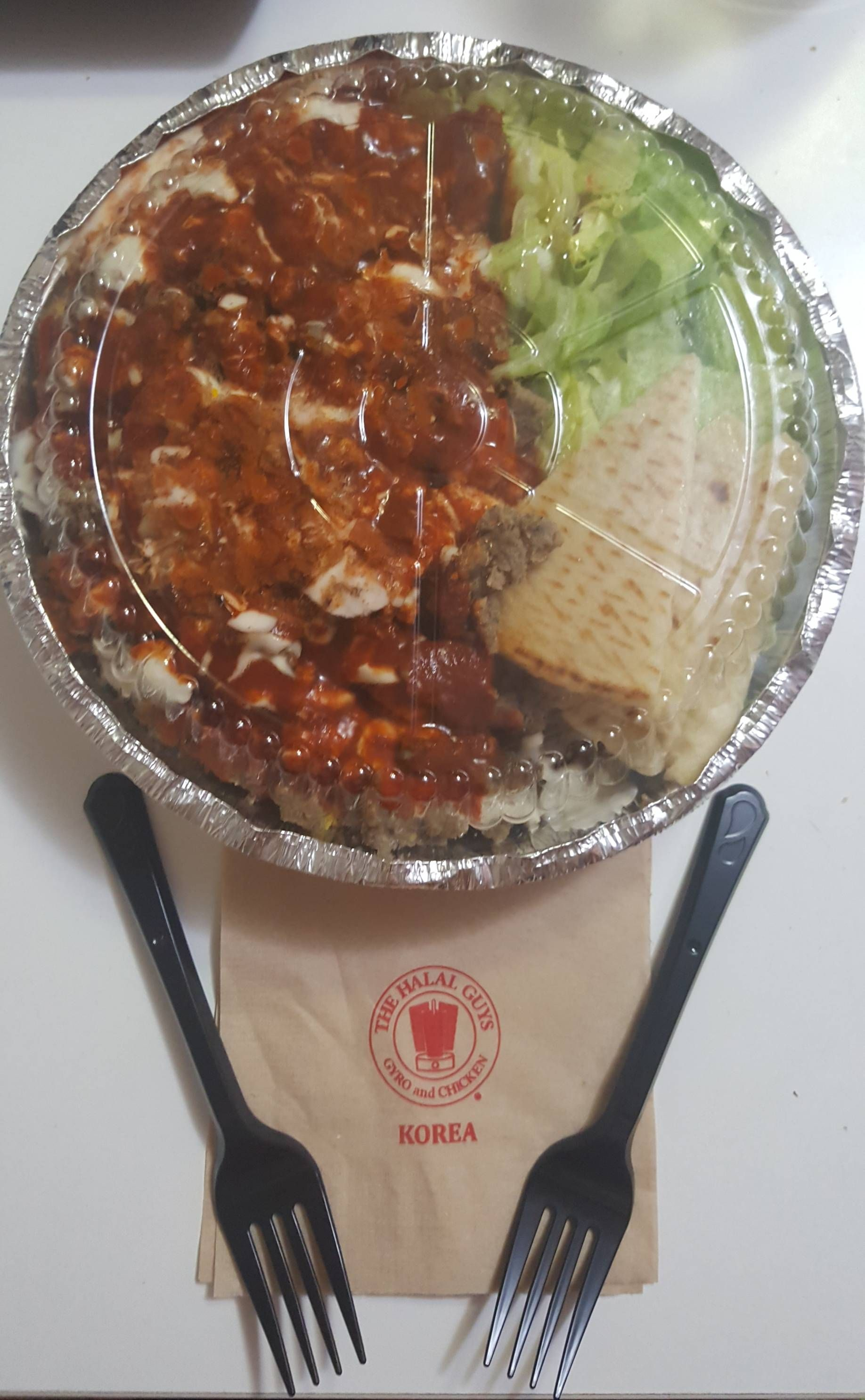 I Ate Halal Guys Korea Nice And Spicy Beef Platter Food Recipes Yemek Gidilecek Yerler Yerler