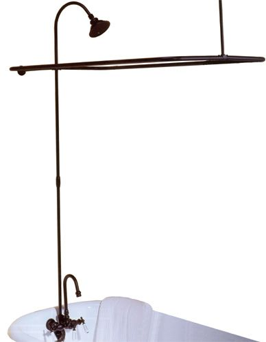 Bronze clawfoot shower conversion... might have to spray paint a ...
