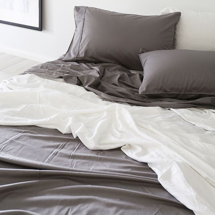 Bamboo Linen In Dove Grey Www Yohome Com Au Bed Sheet Sets
