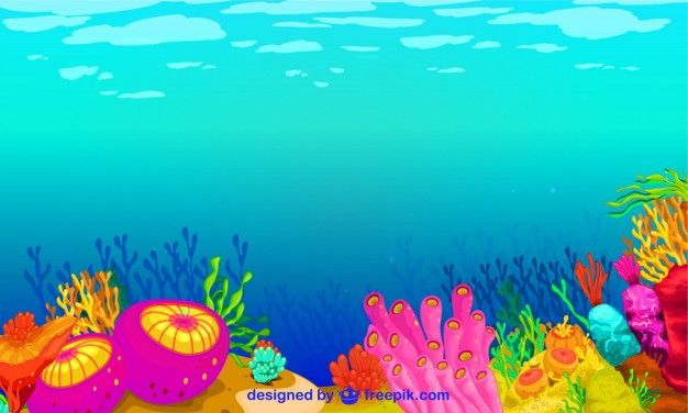 Download Colorful Underwater Life For Free In 2020 Underwater Background Vector Free Graphic Design Resources
