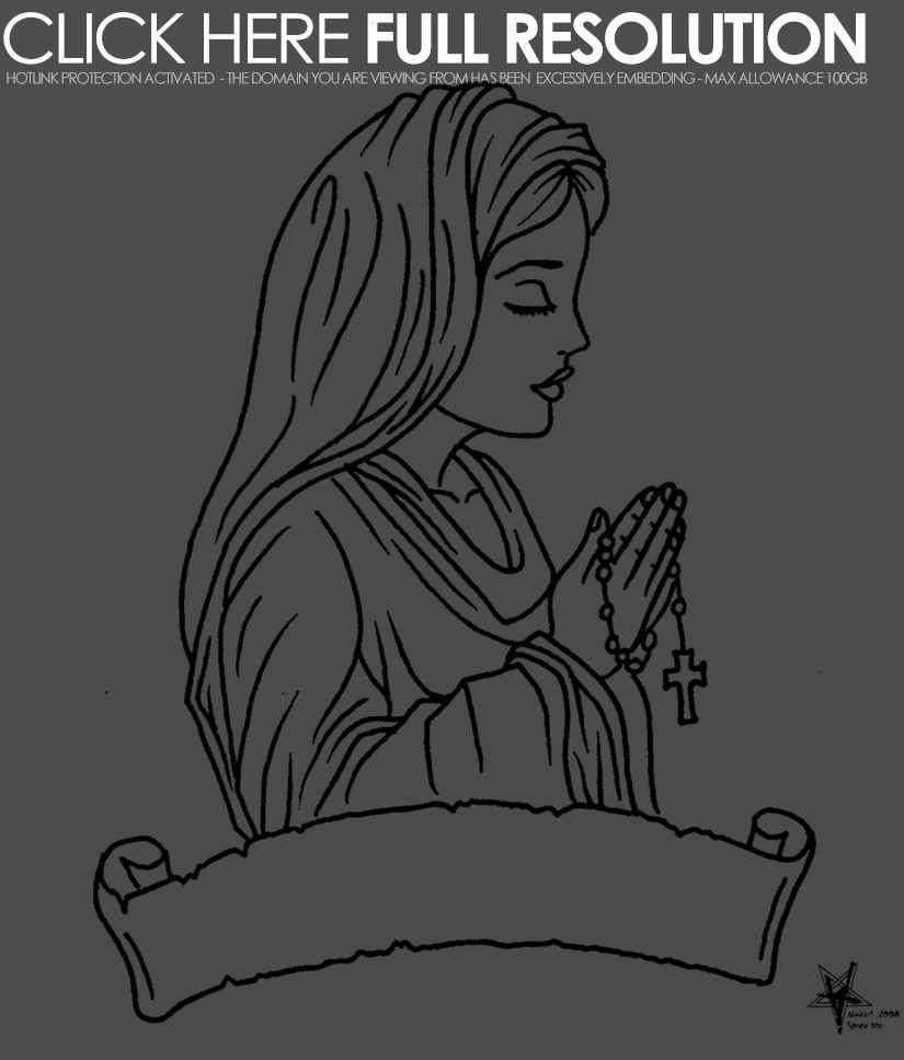 Blessed Mother Coloring Pages | Mother mary coloring pages ...
