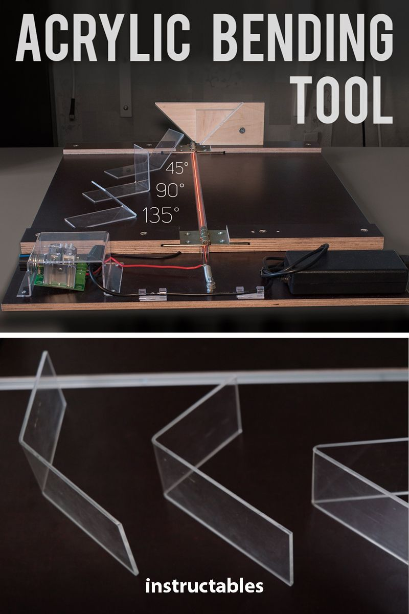 Acrylic Bending Tool Acrylic Bending Tool: In this instructable / video I am going to show you how you can make simple, cheap and very useful acrylic bending tool. It opens new possibilities and ways you can work with acrylic.Provided Amazon links are affiliatesTools You'll Need: Router (... #homemadetools