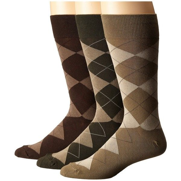 Polo Ralph Lauren Classic Argyle Cotton Blend with Polo Logo Knit In On  Sole (Olive Assorted (Olive/Loden/Dark Brown)) Men's Crew Cut Socks Shoes