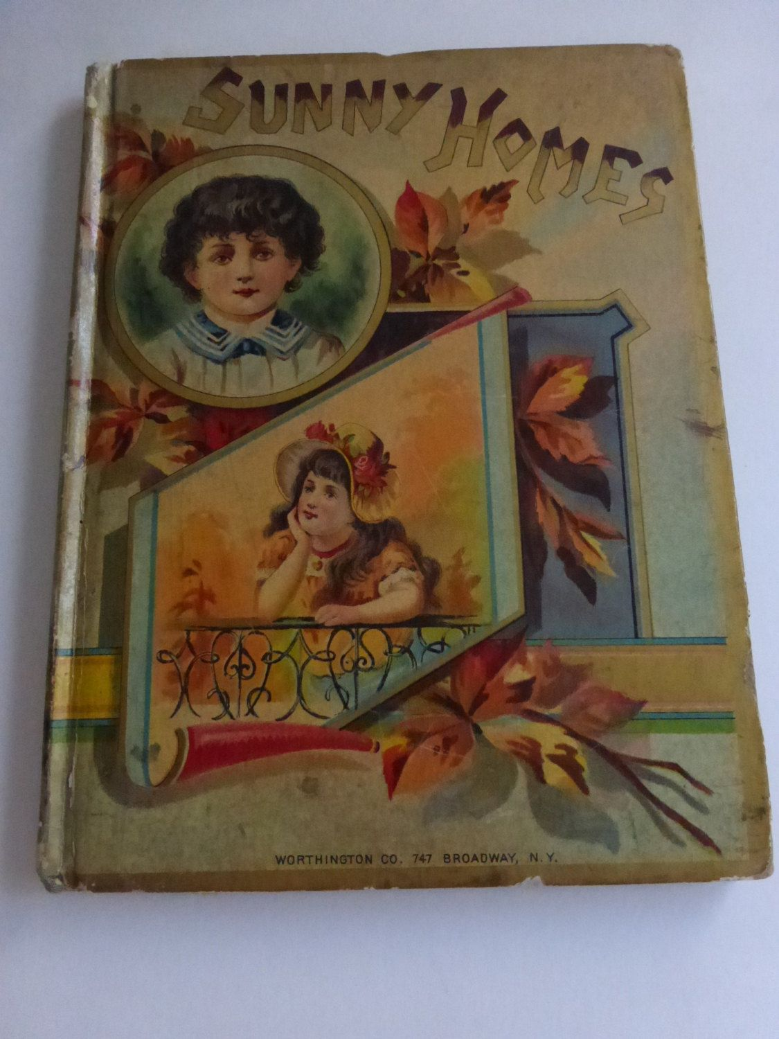 Antique Book Sunny Homes Pictures, Poems and Stories by