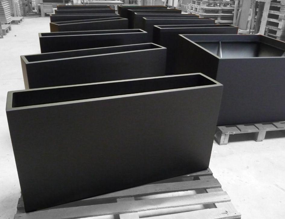 pots sur mesure teinte noir zinc