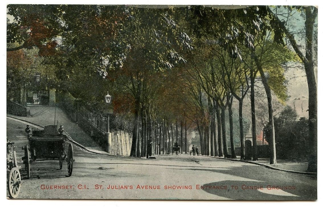 Old Rare Postcard St Julians Avenue & Vintage Car Guernsey Unused ...
