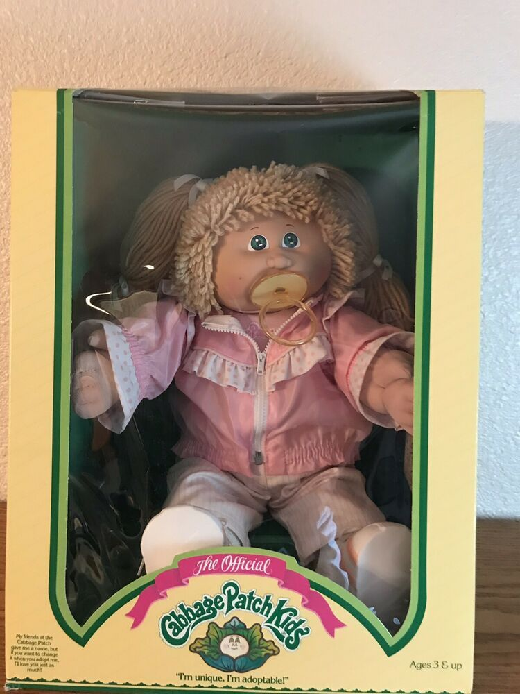 Vintage 86 Cabbage Patch Kid Blond Girl With Pacifier Coleco Cabbage Patch Kids Cabbage Patch Kids Boy Cabbage Patch Kids Clothes