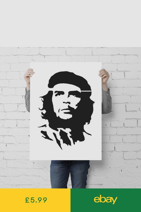 Banksy Che Guevara Stencil Graffiti Style Replica Wall Painting Ideal Stencils Stencil Graffiti Graffiti Styles Graffiti