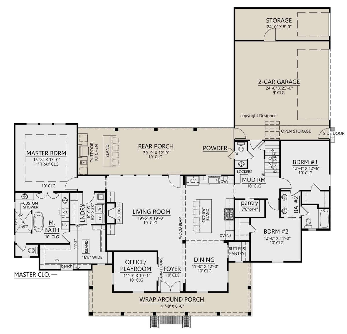80 Modern Farmhouse Staircase Decor Ideas 64: Modern Farmhouse Plan: 2,435
