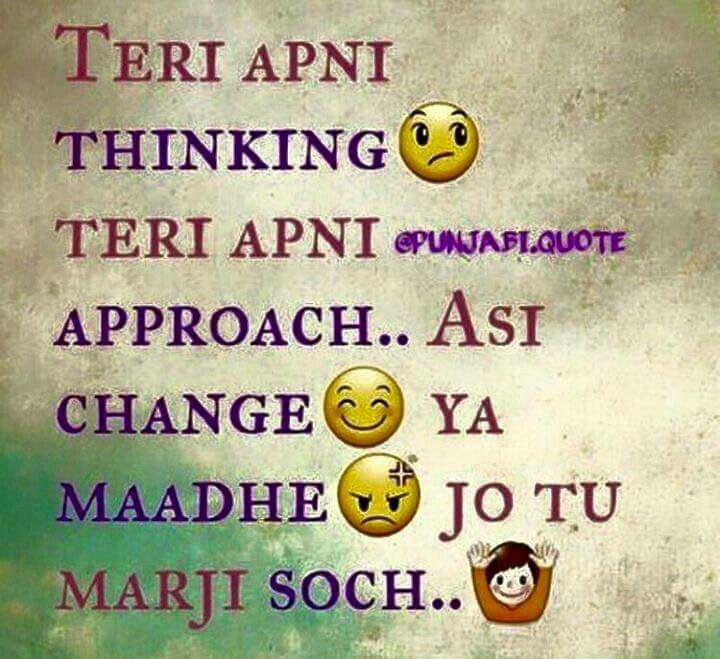 Ooooooo Killer Attitudeee Pinterest Punjabi Quotes