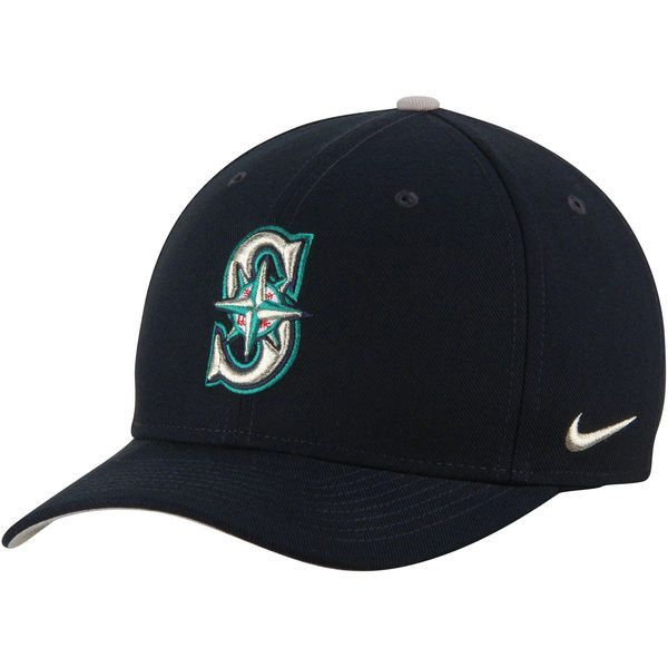 Men s Seattle Mariners Nike Navy Wool Classic Adjustable Performance ... d6f30507817