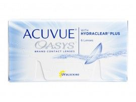 Johnson Johnson Acuvue Oasys With Hydra Clear Plus 6 Lenses Box