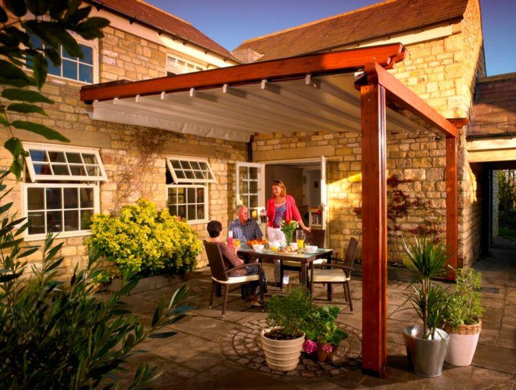 Protection solaire - pergola, auvent en bois et voile d\u0027ombrage