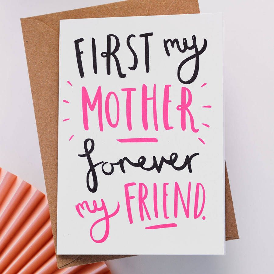 'First My' Mother's Day Card Mother's day card messages
