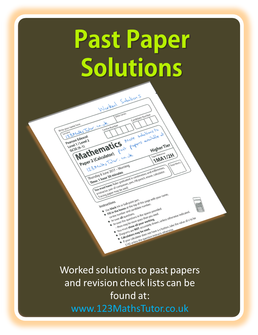 GCSE Maths | Past Paper Worked Solutions to download