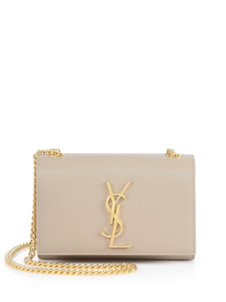 Saint Laurent - Small Kate Monogram Leather Chain Shoulder Bag ... 6b184bf269