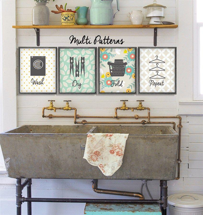Set Of 4 Lovify Your Laundry Laundry Room Art Laundry Room Decor Decor