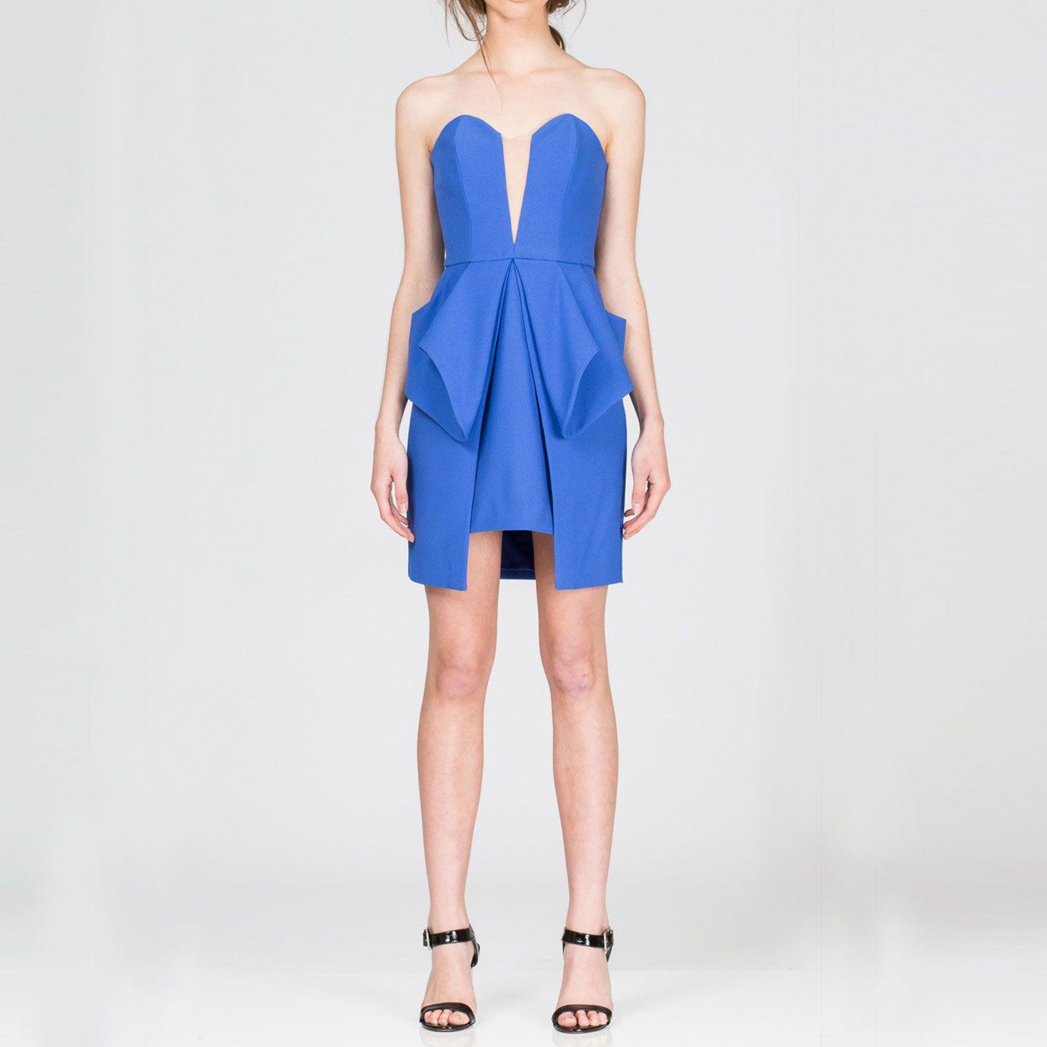 ナイトライト・ボディスドレス #Party #Wedding #Dress #Blue