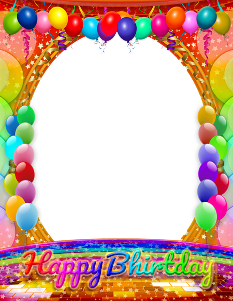 Happy Birthday Transparent PNG Frame | Happy Birthday Frames ...