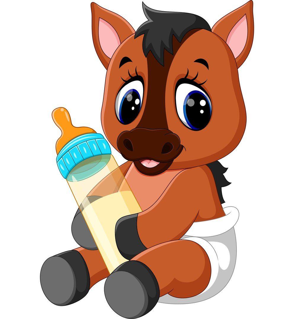 Skrapbuking Rukodelie Vk Horse Cartoon Cute Baby Horses Baby Horses