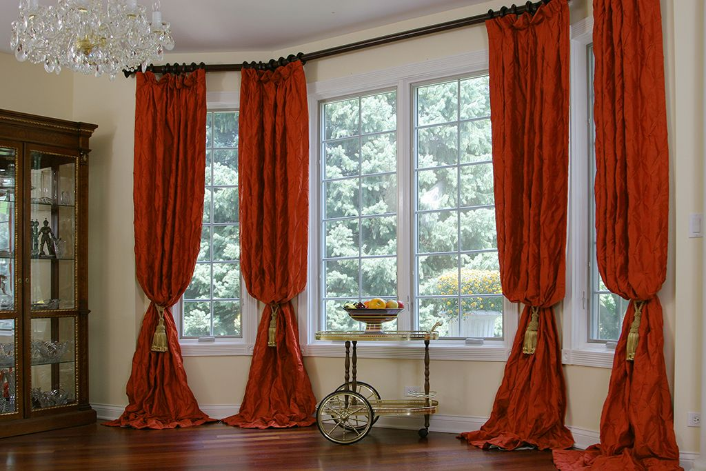 Bay Window Treatment In Hinsdale Il Curtains Pinterest Window