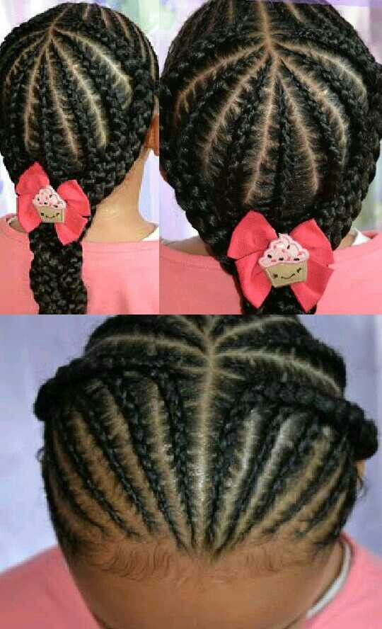 Simple cornrows for beginners. Excellent protective style ...
