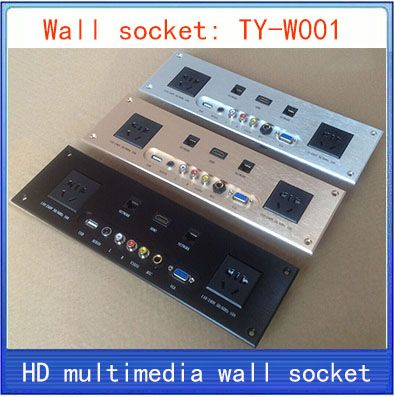 Wall socket hd hdmi video audio vga network rj45 information outlet house greentooth Images