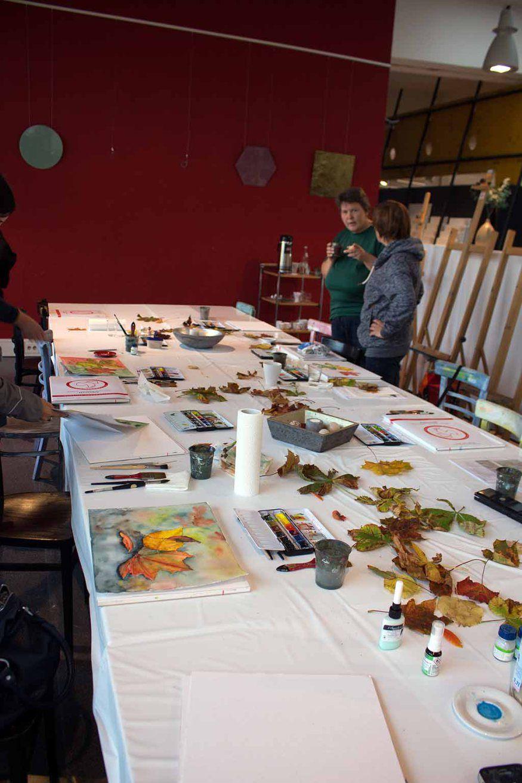 Aquarelle zum Herbstanfang | Schnappschüsse aus dem Aquarellkurs – bunter Herbstblätter (c) FRank Koebsch (13)