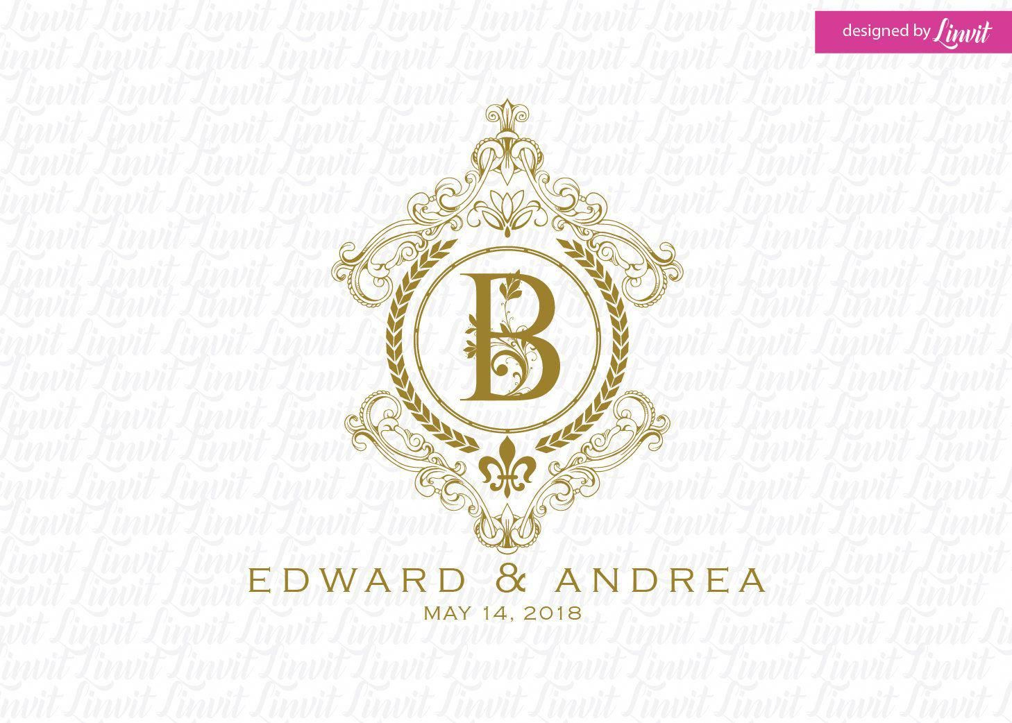 View It Now Filled Luxury Wedding Planning Wedding Logos Monogram Wedding Custom Wedding Monogram